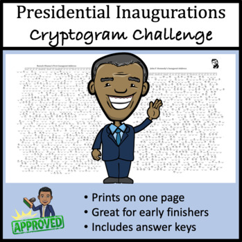 Presidential Inaugurations Cryptogram Challenge