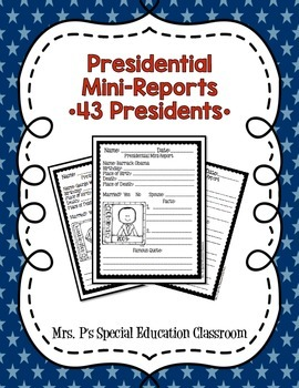 Presidential Mini-Reports