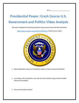 Presidential Power: Crash Course U.S. Government and Polit