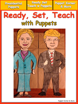 Presidential Race Puppets