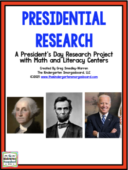 Presidents!  Presidential Research:  A President's Day Res