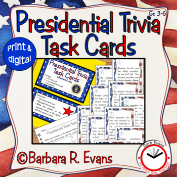 TASK CARDS: Presidential Trivia
