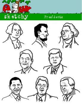Presidents Clipart Graphics - 300dpi