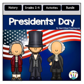 Presidents' Day BUNDLE with Lincoln, Washington & Jefferson