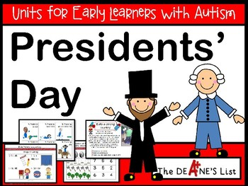 Units for Early Learners with Autism: Presidents' Day