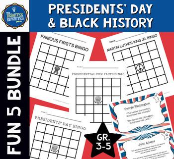 Presidents' Day & Black History Activities Bundle