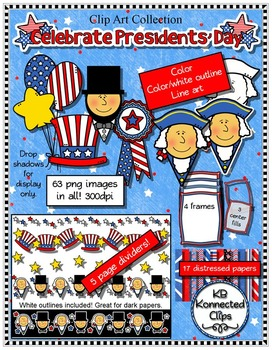 Presidents' Day Clip Art Collection - Objects, Page Divide