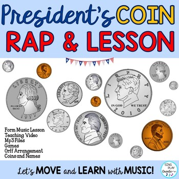 Presidents' Day Coin Rap with Ostinato with Rhythm Practic