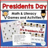 Presidents Day Common Core Mini Pack Math & Literacy