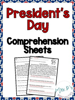 President's Day Comprehension Pack