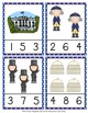 Presidents Day Count and Clip Cards Numbers 1-12