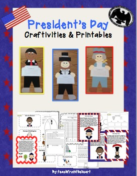 President's Day Craftivities & Printables (Obama, Lincoln,