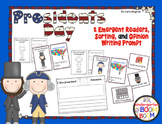 Presidents Day Emergent Reader, Sort, and Writing Prompt