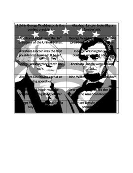 President's Day Fact and Opinion