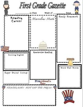 President's Day Home Learning Newsletter