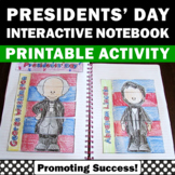 US Presidents Day Activities Washington & Lincoln Foldable