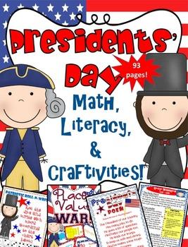 Presidents' Day Literacy, Math & Craftivity Fun!