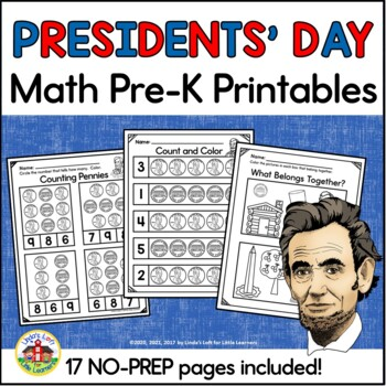 Presidents' Day Math Printables for Preschool