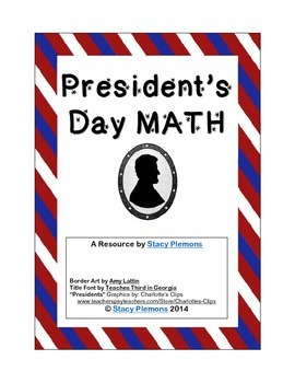 President's Day Math Word Problems for Intermediate & Midd