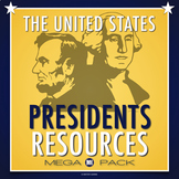 Presidents Day Mega Pack: Crossword, Unscramble, Research