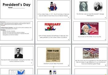 President's Day Mini Book
