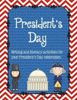 President's Day Pack - word wall, literacy center, writing