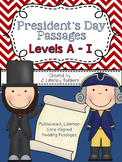 President's Day Passages: CCSS Aligned Leveled Reading Pas