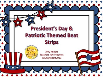 Presidental & Patriotic Beat Strips for Dictation, Notatio