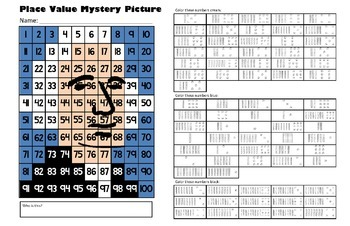 Presidents Day Place Value Math Mystery Picture - George W