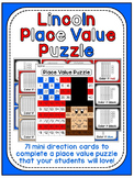 Presidents Day Math Center: Abraham Lincoln Place Value 10