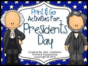 Presidents Day (Print & Go Activities)