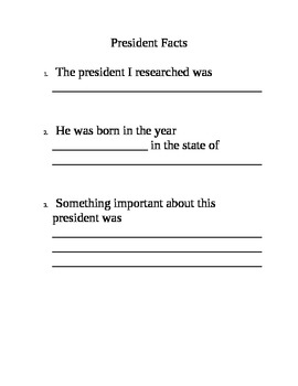 President's Day Research Book