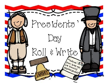 Presidents' Day Roll and Write