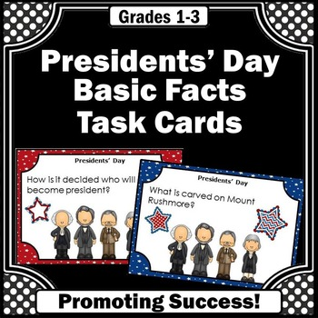 U.S. Presidents Day Fun Facts Task Cards for Social Studie