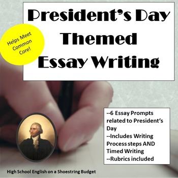 President's Day Themed Essay Writing, w Rubrics & Printables
