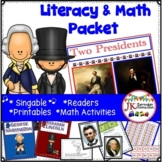 Presidents' Day Packet! Washington and Lincoln Literacy &