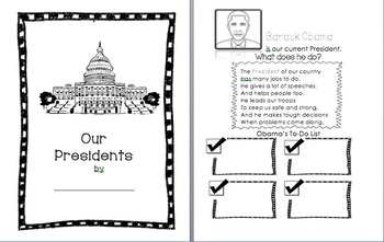 Presidents' Day Unit Lapbook