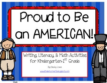 President's Day Writing, Literacy and Math Centers