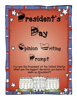 President's Day Writing Prompt