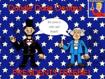 Presidents Freebie {Doodle Dude Designs}