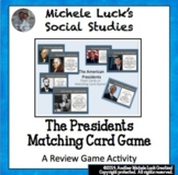 Presidents Matching Card Game - All 44 Presidents Flash Cards