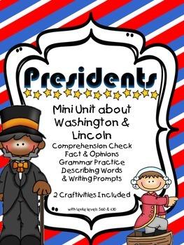 Presidents Mini-Unit Washington & Lincoln Comprehension Ac