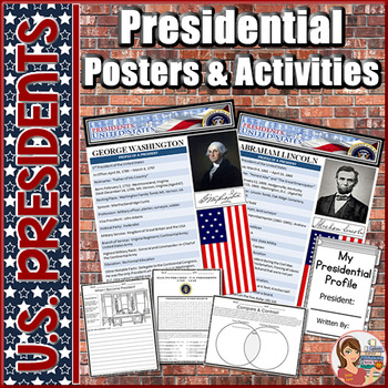 Presidents Profile Posters & Activity Pack