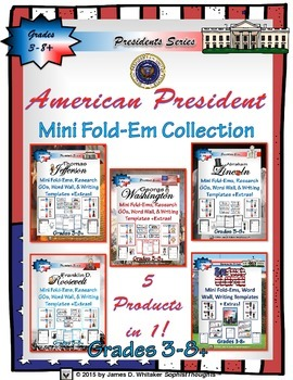 Presidents US Presidents Mini Research Fold-Ems Collection
