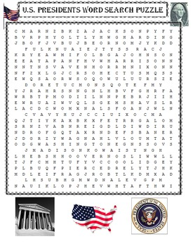 Presidents Word Search Puzzle