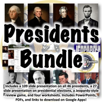 Presidents Worksheets