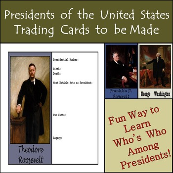 Presidents of the United States - 45 Trading Cards to Be Made