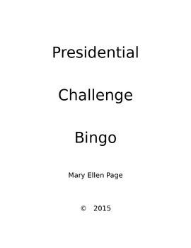 Presidents'Day Challenge BINGO