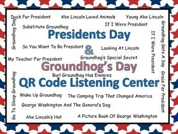 President's/Groundhog's Day Listening Center (20 books wit