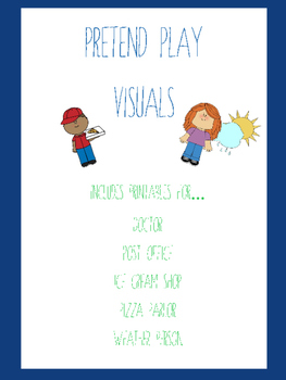 Pretend Play Visuals (Doctor, Post Office, Pizza Parlor, a